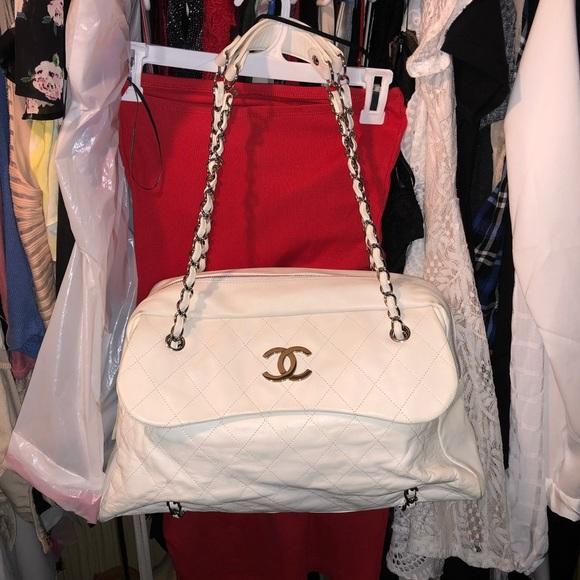 9a1dfcfd1534c CHANEL Handbags - Chanel CC Lambskin Flap Bowler Shoulder Bag